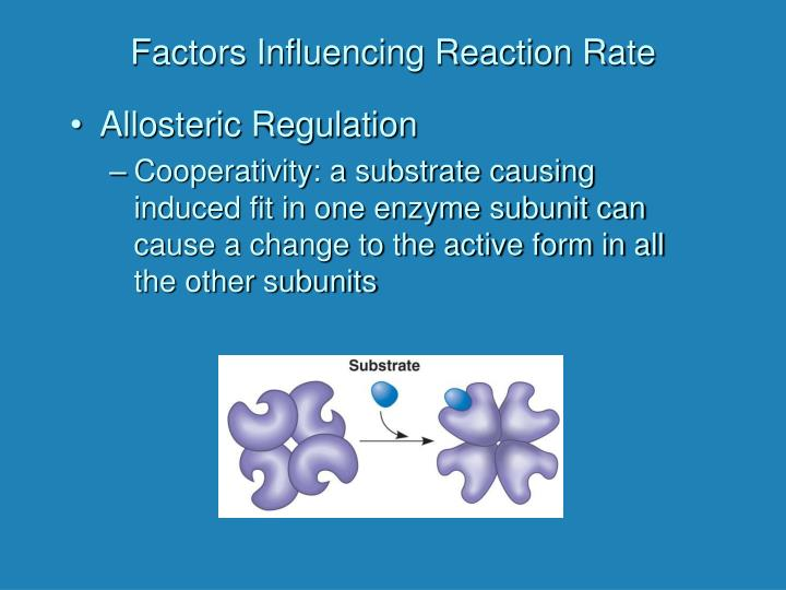 Factors Influencing Reaction Rate
