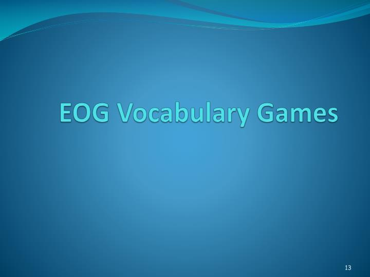 EOG Vocabulary Games