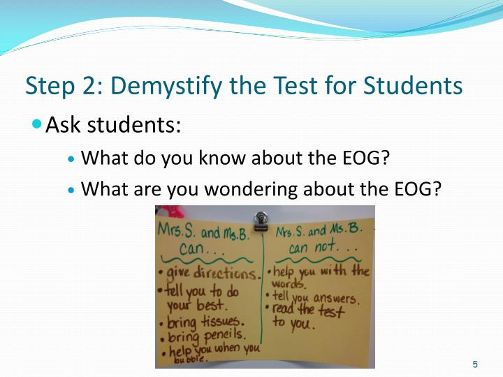Step 2: Demystify the Test for Students
