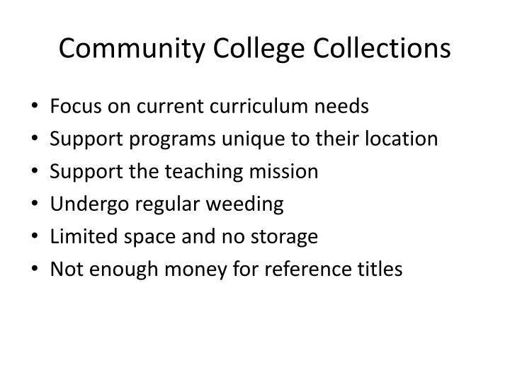 Community College Collections