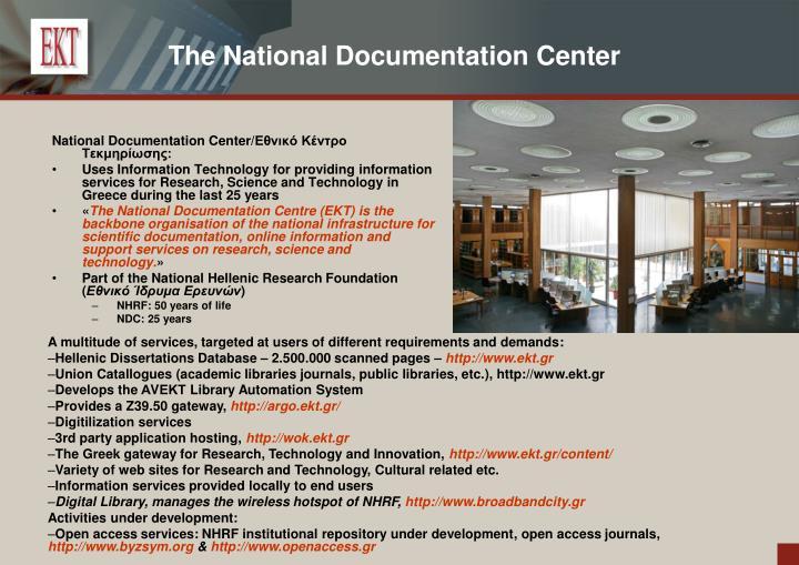 The National Documentation Center