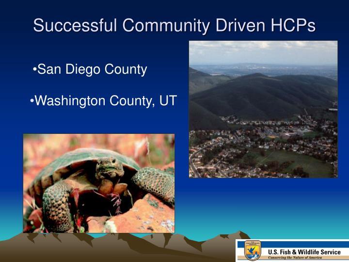 Successful Community Driven HCPs