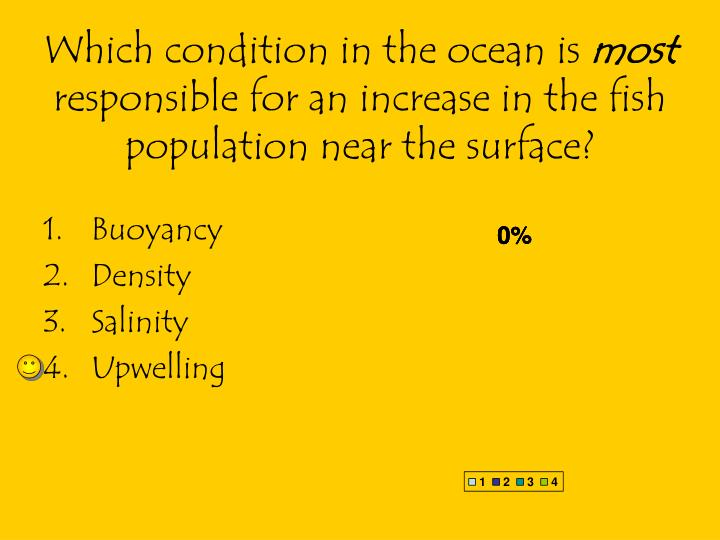 Which condition in the ocean is
