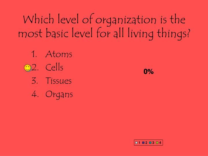 Which level of organization is the most basic level for all living things?