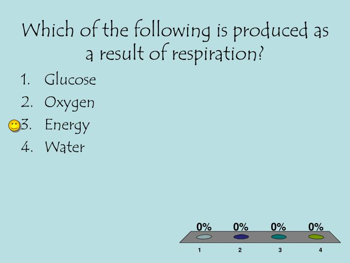 Which of the following is produced as a result of respiration?