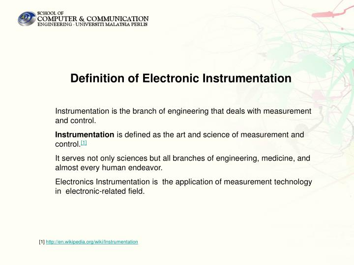 Definition of Electronic Instrumentation