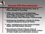 recent eoh recruitments