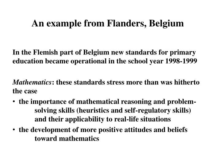 An example from Flanders, Belgium