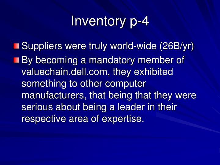 Inventory p-4