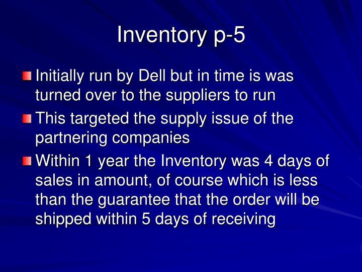 Inventory p-5