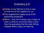inventory p 5