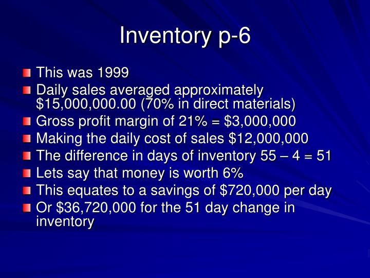 Inventory p-6