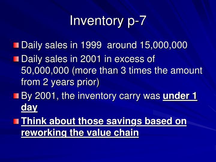 Inventory p-7