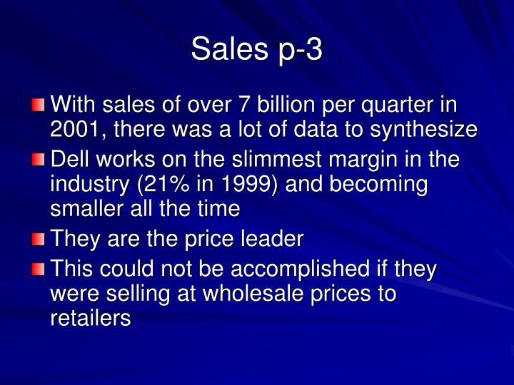 Sales p-3