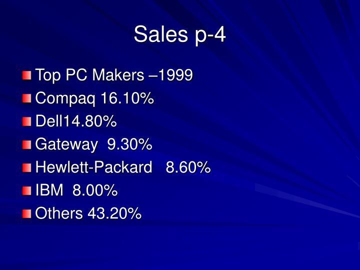 Sales p-4