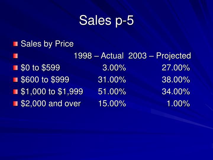 Sales p-5