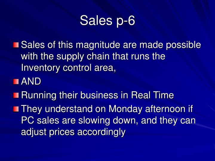 Sales p-6