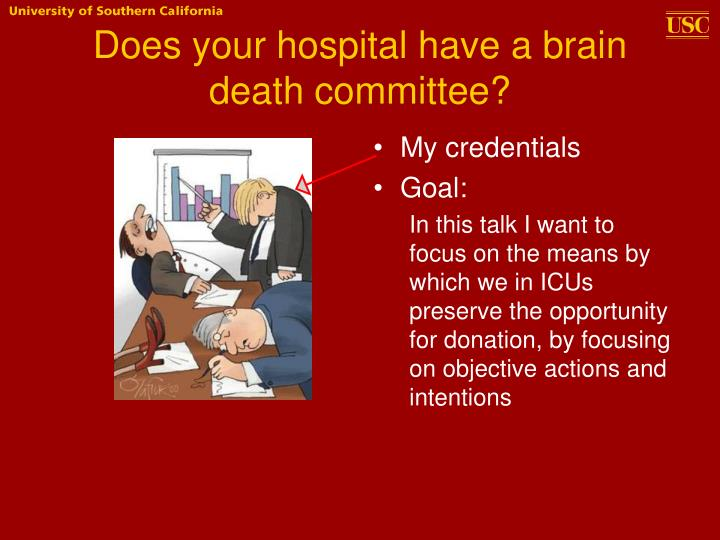 Does your hospital have a brain death committee?