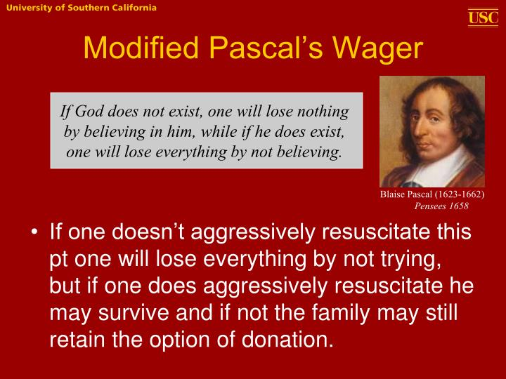 Modified Pascal's Wager