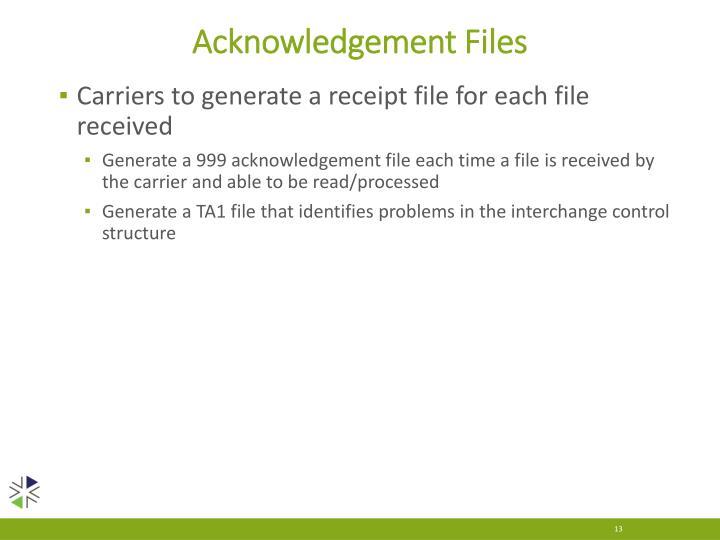 Acknowledgement Files