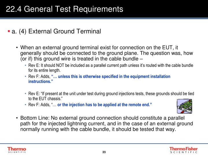 22.4 General Test Requirements