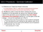 22 5 1 procedures generator calibration