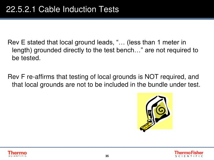 22.5.2.1 Cable Induction Tests