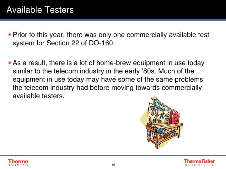 Available Testers