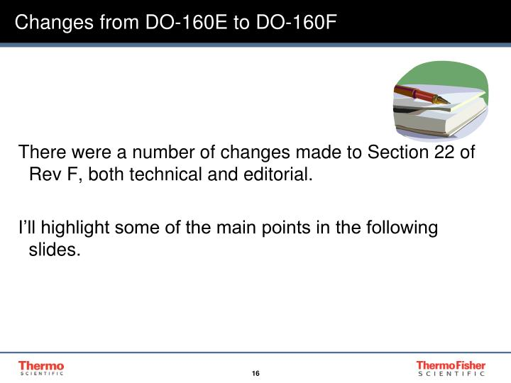 Changes from DO-160E to DO-160F