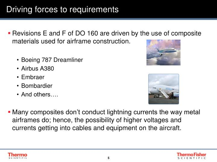 Driving forces to requirements