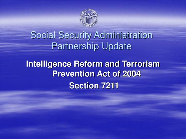Intelligence Reform and Terrorism Prevention Act of 2004