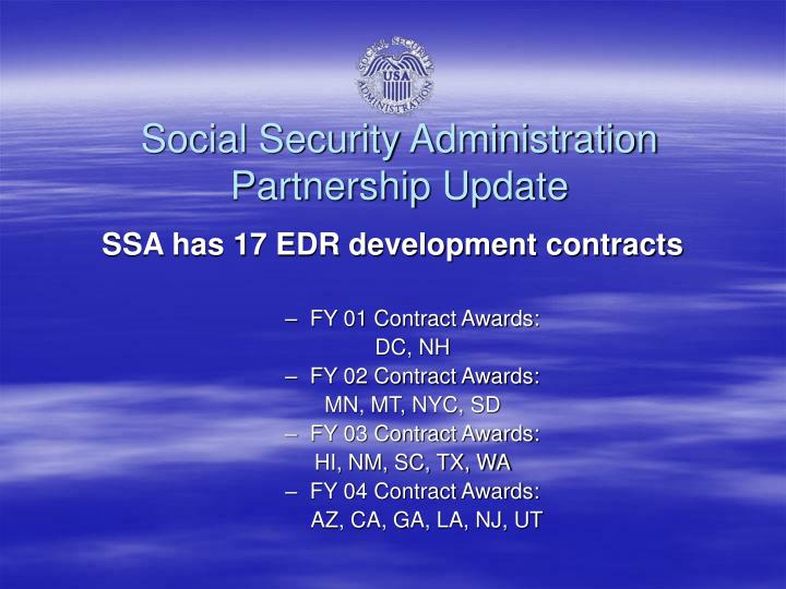 Social Security Administration Partnership Update
