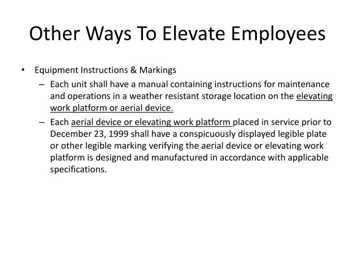 Other Ways To Elevate Employees