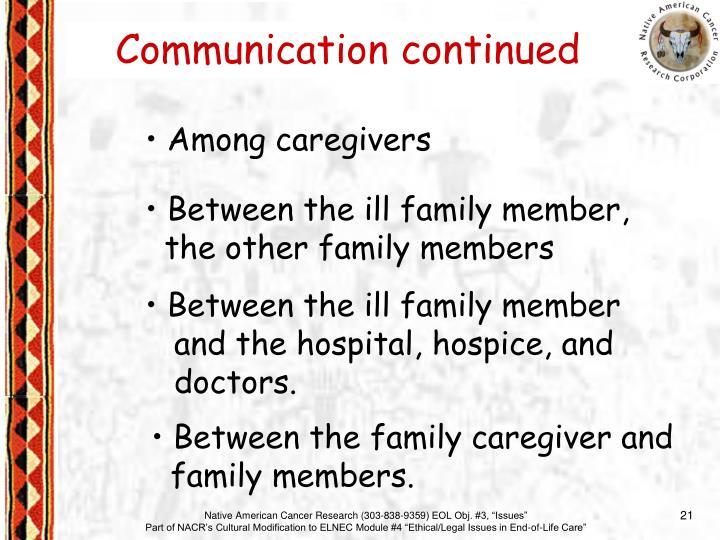 Among caregivers