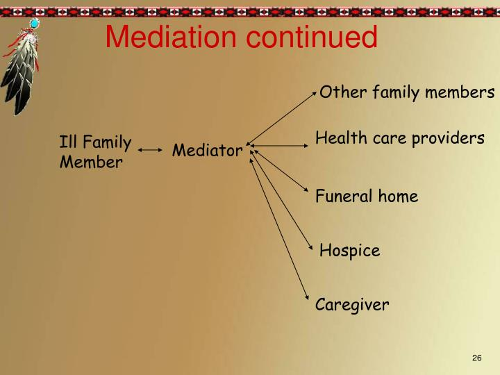 Mediation continued