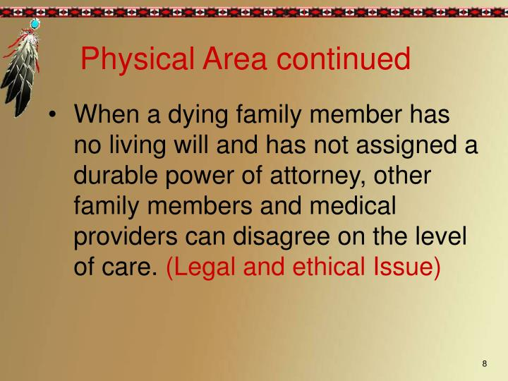 Physical Area continued