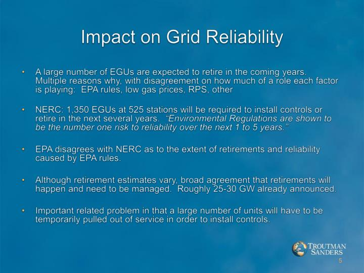 Impact on Grid Reliability