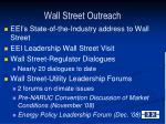 wall street outreach