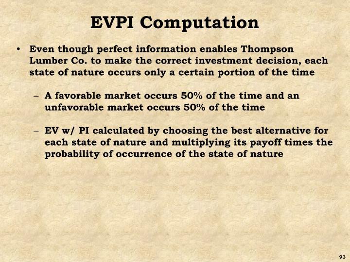 EVPI Computation