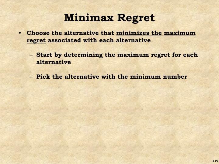 Minimax Regret