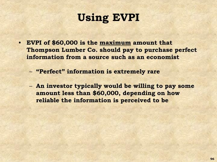 Using EVPI