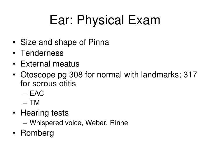 head ears eyes nose throat physical 1 head and neck, eyes, ears, nose, & throat head & neck • review anatomy of head • history – headache – head injury – dizziness – neck pain.