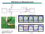 esd event on differential clock