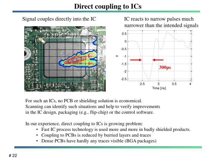 Direct coupling to ICs