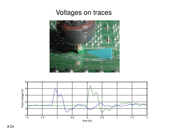 Voltages on traces