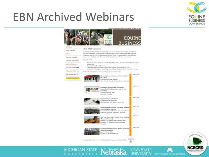 EBN Archived Webinars