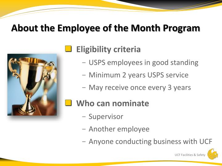 About the employee of the month program