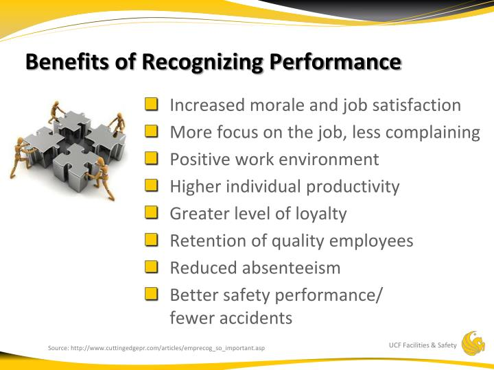 Benefits of Recognizing Performance