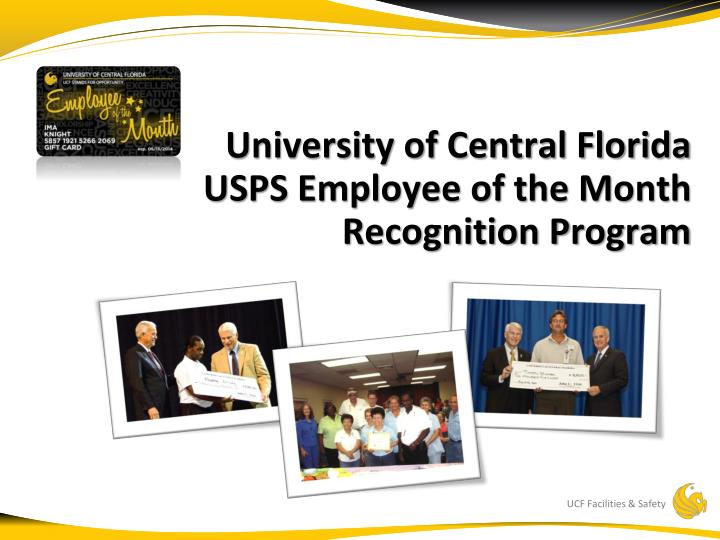 University of central florida usps employee of the month recognition program
