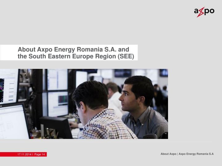 About Axpo Energy Romania S.A. and